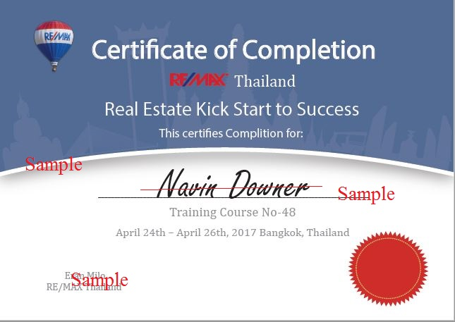 Real Estate Agent Training Certificate