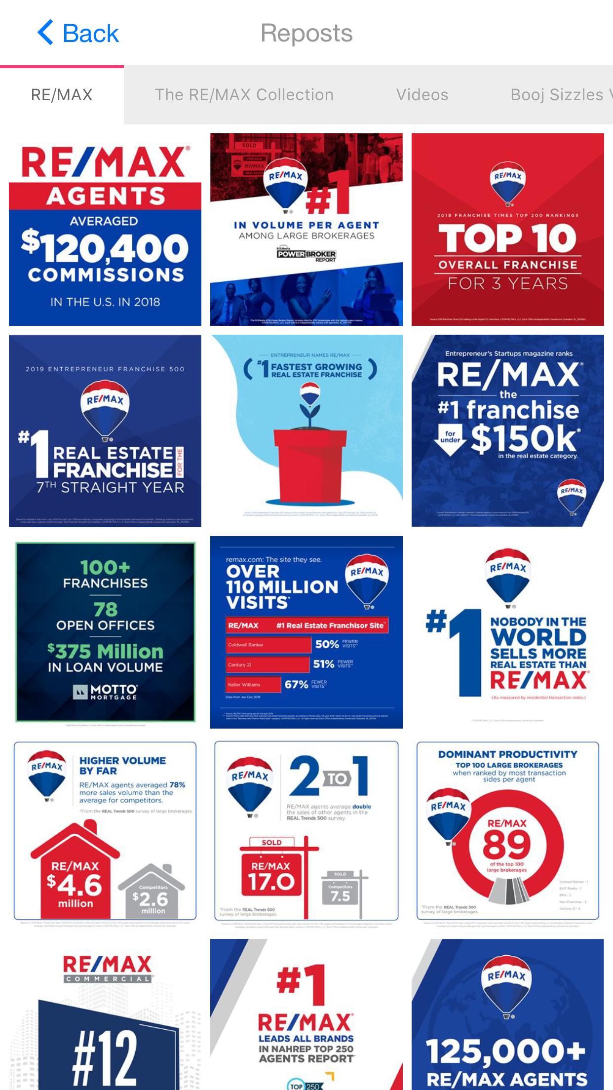Marketing app for real estate